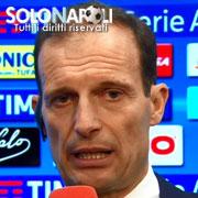 """Allegri: """"Complimenti al Napoli, ha fatto una buona partita"""""""