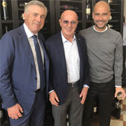 Ancelotti incontra Sacchi e Guardiola