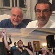 Il Napoli fa festa a Villa D