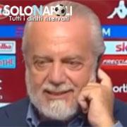 """De Laurentiis: """"Con Ancelotti la vita è bella"""""""