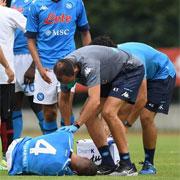 Infortunio al ginocchio per Diego Demme