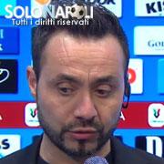 """De Zerbi: """"Anche gli arbitri possono sbagliare"""""""