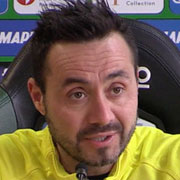 """De Zerbi: """"Al San Paolo per passare il turno"""""""