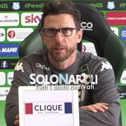 """Di Francesco: """"Il Napoli gioca il miglior calcio in Italia"""""""