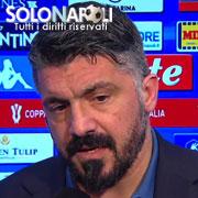 """Gattuso: """"Buona partita ma la strada è lunga"""""""